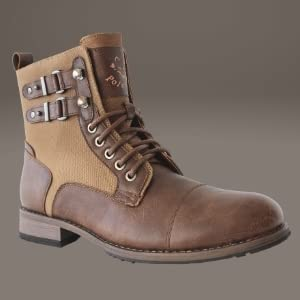 HOMER, brown boots, brown leather boots, brown biker boots, brown combat boots