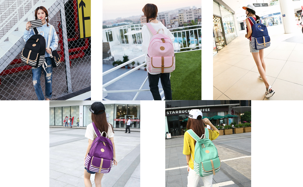 canvas backpack for school
