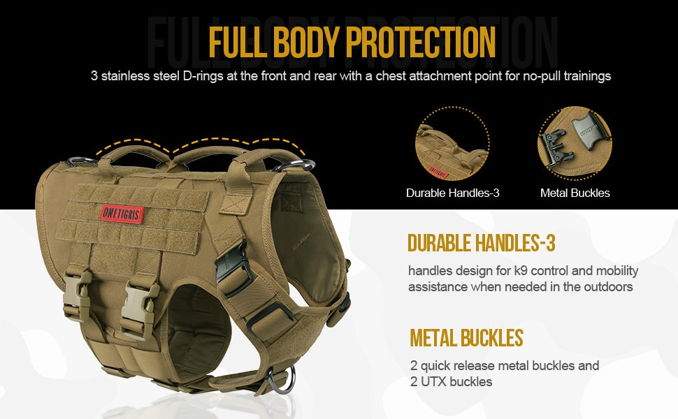 no pull dog harness military