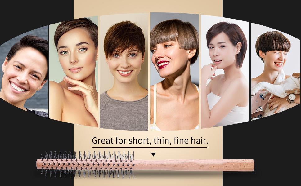 Small Round Brush for Short Hair