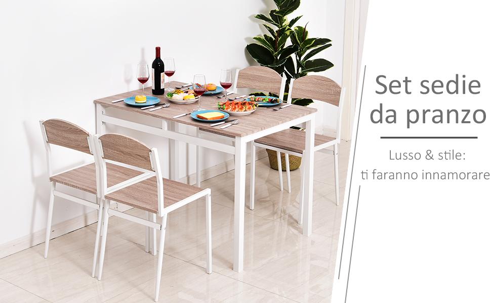 Casaria Set Tavolo E 4 Sedie Da Soggiorno Nero 5 Pz Arredamento Salone Cucina Sala Da Pranzo Mobili Per Cucina Moderno Set Sala Da Pranzo Agoraguiers Arredamento