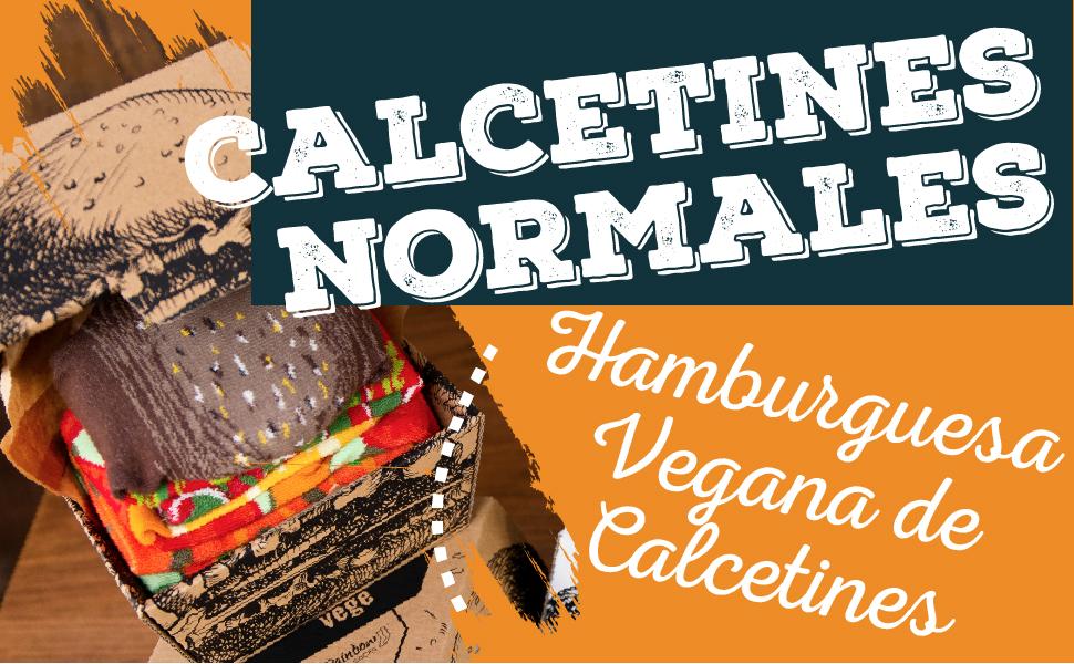 calcetines normales Hamburguesa Vegana de Calcetines