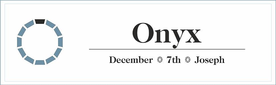black ebony polished December Joseph birthstone birthday 7th anniversary jet opaque faceted onyx