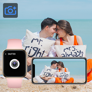 Smartwatch for woman taking photos