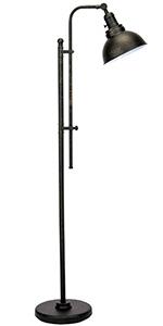 Industrial Floor Lamp Adjustable, 55-65''