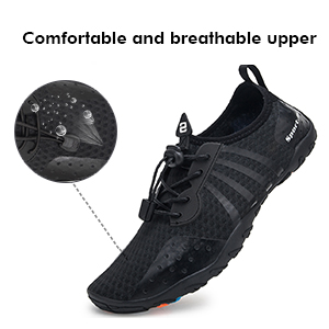 Comfortable and breathable upper