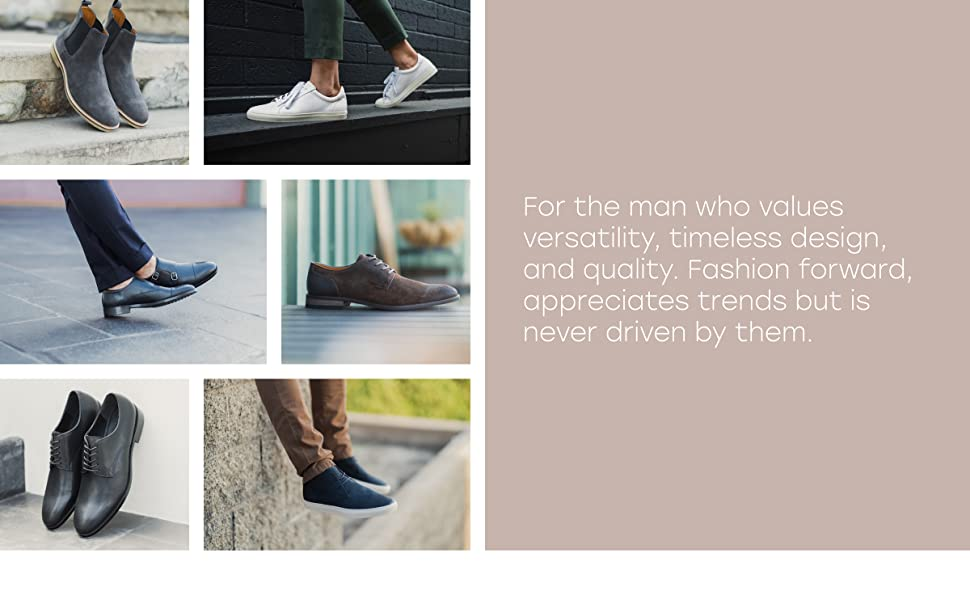 Mens casual dress shoes, dress sneakers, dress boots, and formal shoes for men