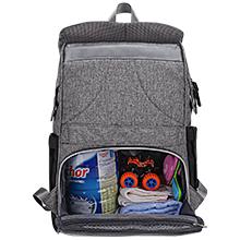 Diaper Bag Backpack Sunup Baby Travel Nappy Back Pack Single-hand Open Zipper Gray-black