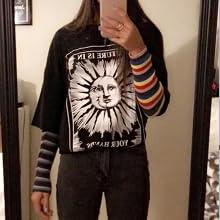 Fenxxxl Womens Round Neck Oversized Tshirts Loose Casual Summer Shirts Junior Tops Boyfriend Graphic Tees