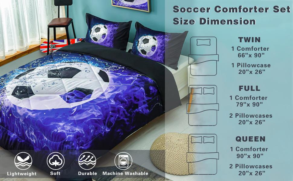Andency Soccer Comforter