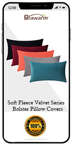 Soft Velvet Bolster Pillow Covers
