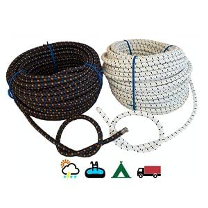 8mm auto sterk bungy kabels zwaar plicht bagage groot stropdas trailer Twee kleuren: zwart en wit
