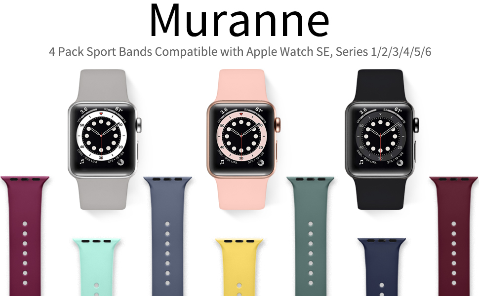 Muranne Band Compatible with Apple Watch 40mm 38mm iWatch SE & Series 6 & Series 5 4 3 2 1