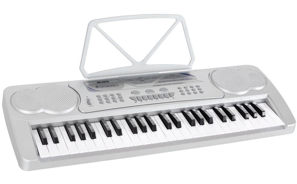 McGrey BK-4910SR teclado con 49 teclas y soporte notas Plata ...