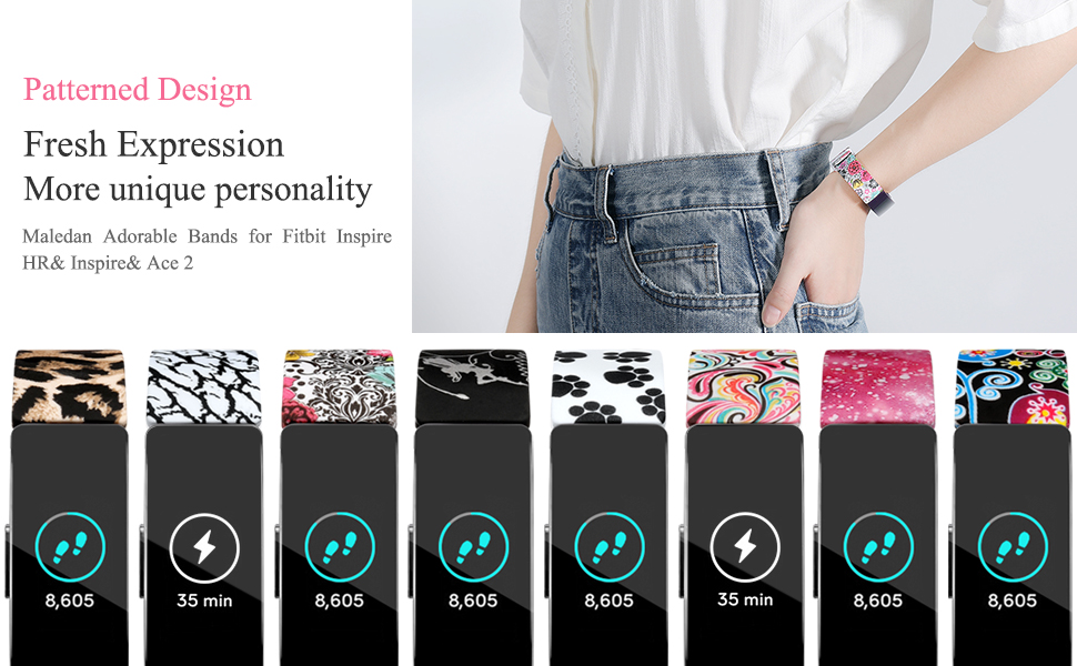 8 pattern design for Fitbit Inspire Bands