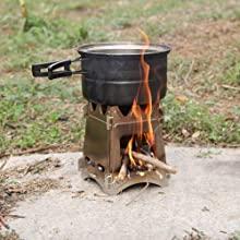 Lixada Estufa de Leña Compacto Plegable para Cámping Cocina Picnic ...