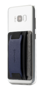 navy iphone phone grip phone stand iphone strap band cell phone card holder case slot money business