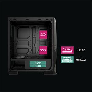 Crusader SSD and HDD location