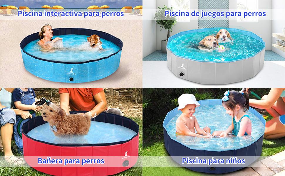 Wimypet Piscina para Mascotas o Niños Plegable, Piscina para ...