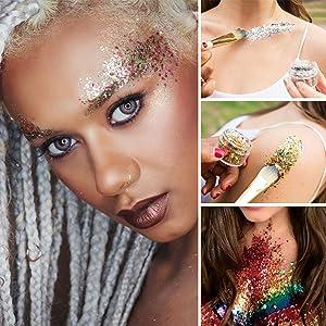 Glitter Make Up Catch Everybody's Attention