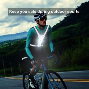 LED Reflective Running Vest