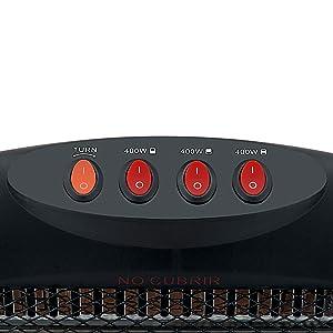 Interruptor Antivuelco Estufa El/éctrica De Cuarzo con 2 Tubos Color Gris 800w con 2 Niveles De Potencia: 400 W Protecci/ón T/érmica AVANT AV7554 800 W