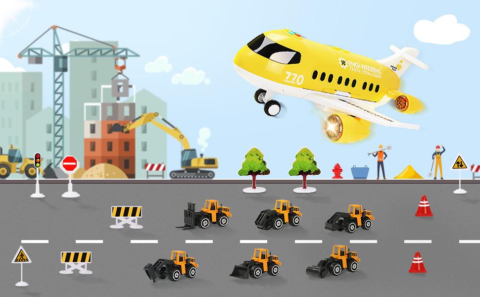 Jenilily airplane & mini cars