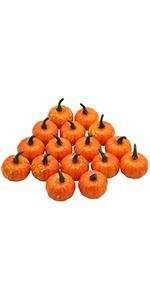 16 Pcs Artificial Fruit Fake Mini Pumpkins