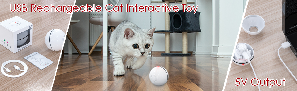Rechargeable Cat Interactive Toy