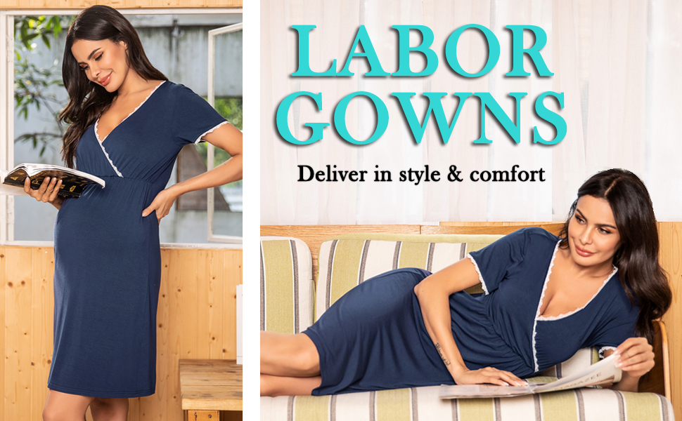 maternity nursing nightgown