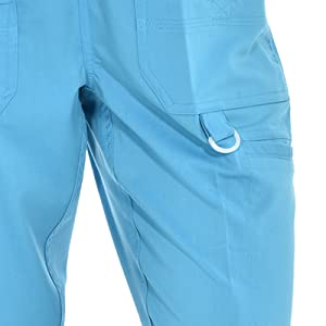 Close-up of D-ring on MediChic Marilyn Monroe MM1101 women's scrub pant