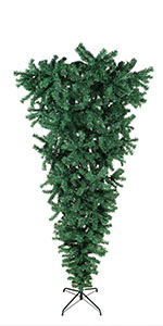 7ft Upside Down Artificial Christmas Tree