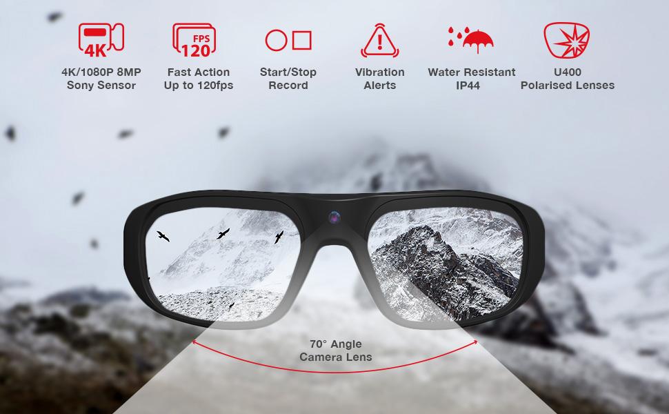 iVUE Vista Camera Glasses Features