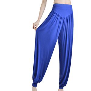 Solid Color Modal Cotton Loose Fit Soft Yoga Sports Dance Harem Pants