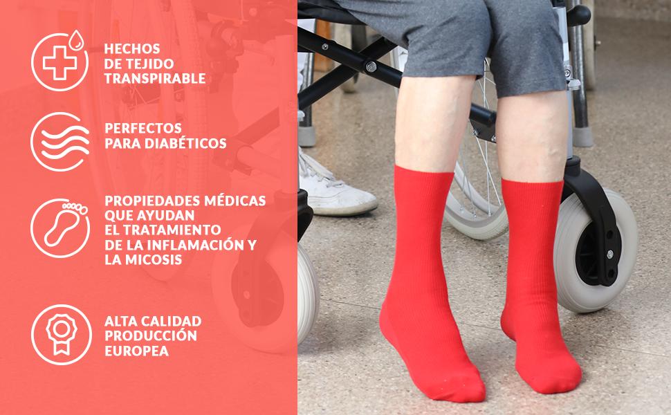 Hechos de tejido transpirable Perfectos para diabéticos. Alta calidad Producción europea
