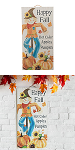 """24""""H Fall Wooden Scarecrow Hanging Decor"""