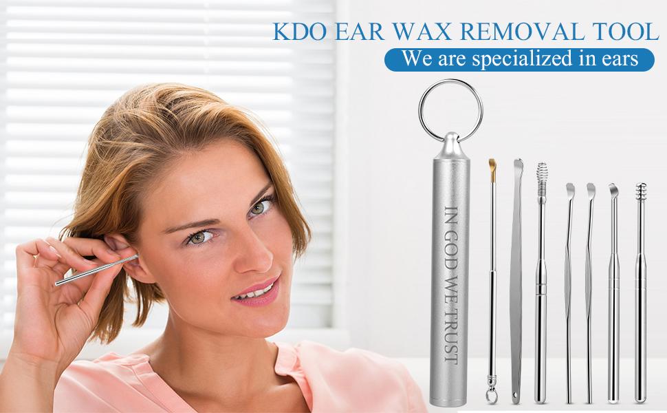 ear wax remover ear wax removal tool  ear cleaner q-grips ear pick kit spiral picker pick kids spoon