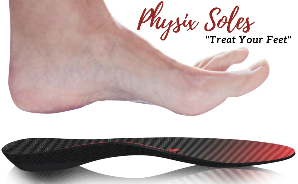 Physix Gear Soles Orthotic Insoles Full Length Unisex New