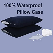 Healing Crystals Top Quality Waterproof Quilted Cotton Zippered Pillow Protector Mattress Protector
