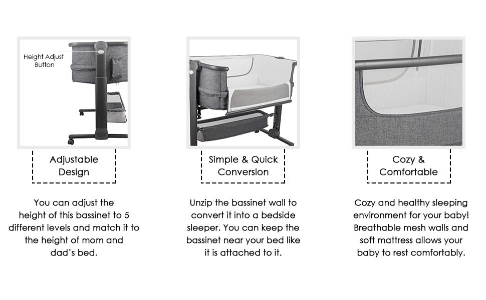 Easy Folding Portable Crib