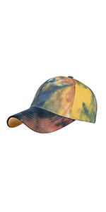 Tie dye baseball caps