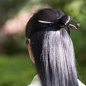 REAL SIC - Natural Sandalwood Hair Sticks  Chopsticks/Wood Hair Pins for Women