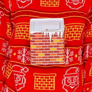 Jack in The Box Santa Claus Adult Red 3D Ugly Christmas Sweater