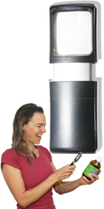 small pocket magnifier with led light for seniors elderly eyesight eye vision problems