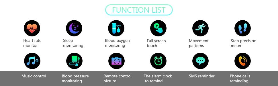 multiple function smart watch
