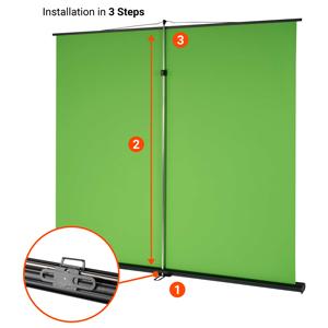 Celexon Mobile Lite Chroma Key Green Screen 150x 200cm Elektronik