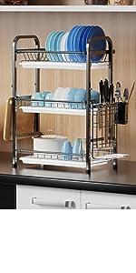 3 Tier Large Dish Drying Rack