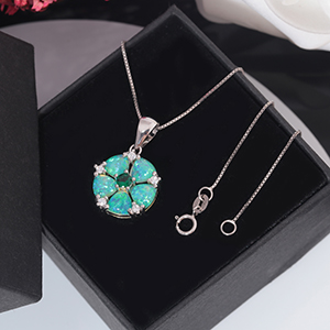 green opal pendant necklace