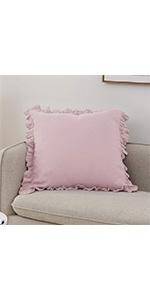 pink linen euro sham