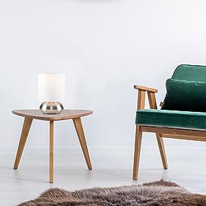 lampe de table chrome